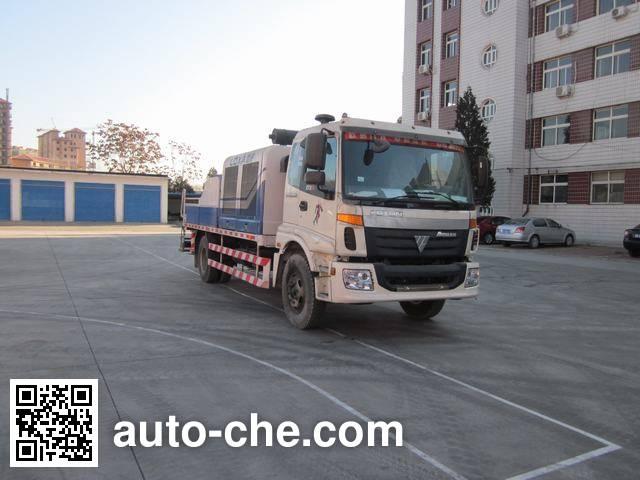 福田牌BJ5130THB车载式混凝土泵车