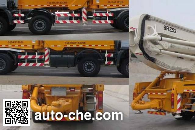 Foton BJ5431THB concrete pump truck