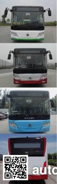 福田牌BJ6123CHEVCG-1混合动力城市客车