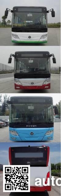 福田牌BJ6123PHEVCA-10混合动力城市客车