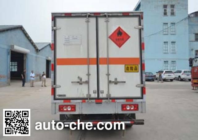 Huanda BJQ5040XRQ flammable gas transport van truck