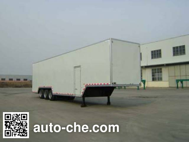 Huanda BJQ9402XXY box body van trailer