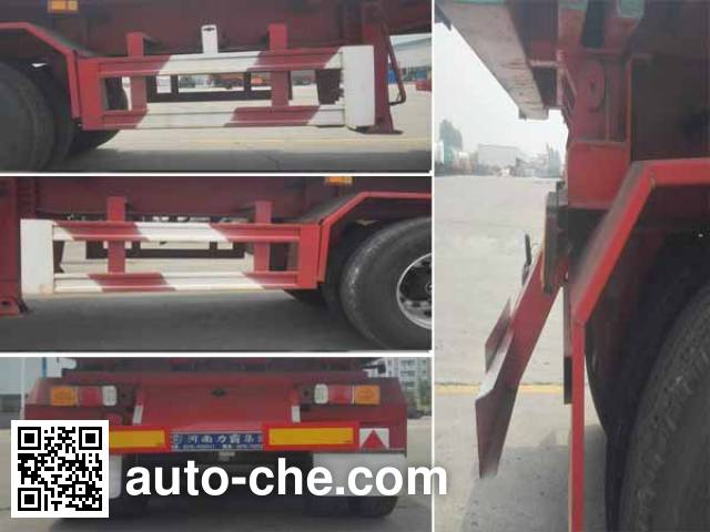 Bashente BST9400ZZXP flatbed dump trailer