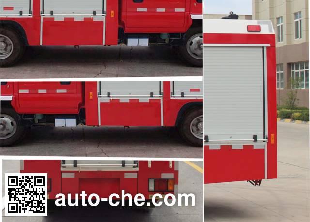 Yinhe BX5070GXFSG30/W4 fire tank truck