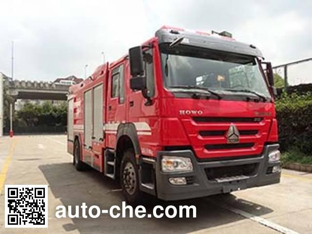 银河牌BX5200GXFPM80/HW5泡沫消防车