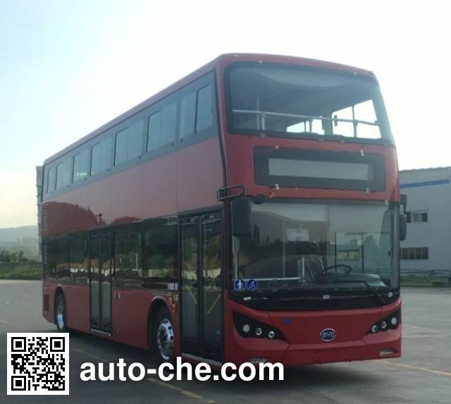 比亚迪牌BYD6100LSEV纯电动双层城市客车