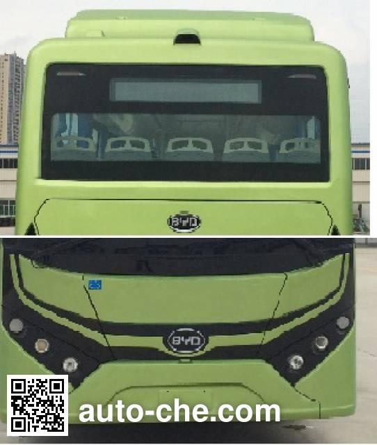 比亚迪牌BYD6810HZEV纯电动城市客车