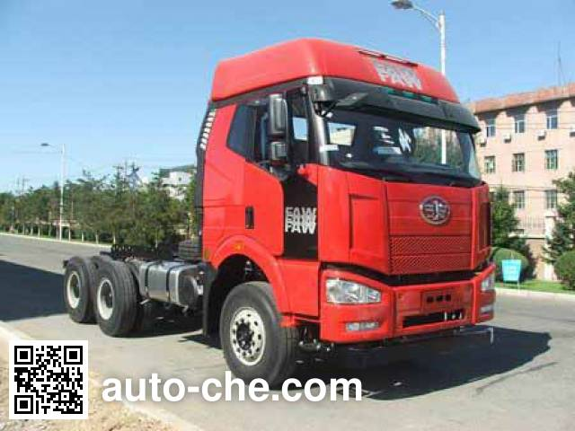 FAW Jiefang CA3250P66K2L1BT1A1E5 diesel cabover dump truck chassis