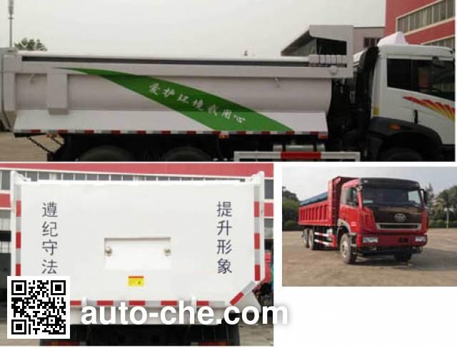 FAW Jiefang CA3256P2K2T1NE5A80-1 natural gas cabover dump truck