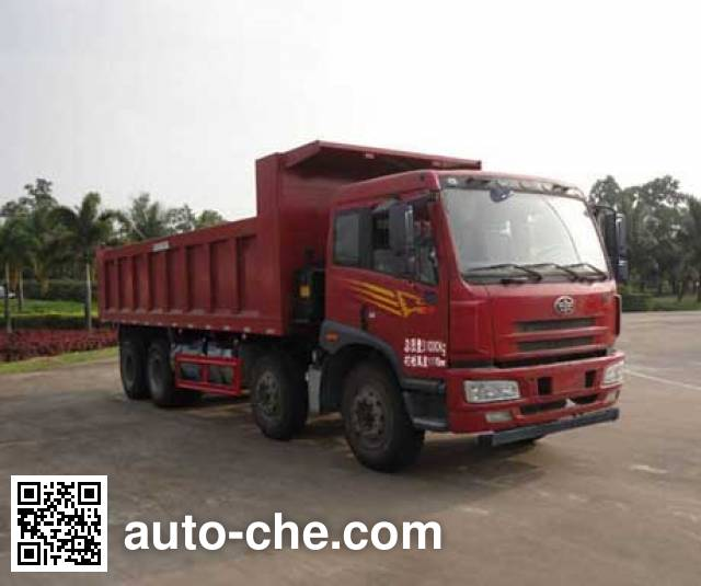FAW Jiefang CA3310P1K15L3T4NA80 natural gas cabover dump truck