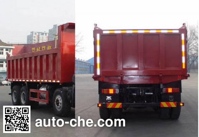 FAW Jiefang CA3310P2K2L4T4NE5A80 LNG cabover dump truck