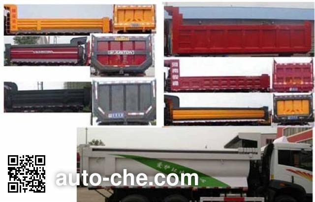FAW Jiefang CA3310P2K2L6T4NE5A80 natural gas cabover dump truck