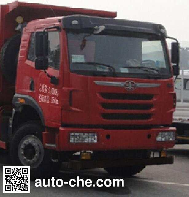 FAW Jiefang CA3312P2K2L6T4NA80 LNG cabover dump truck