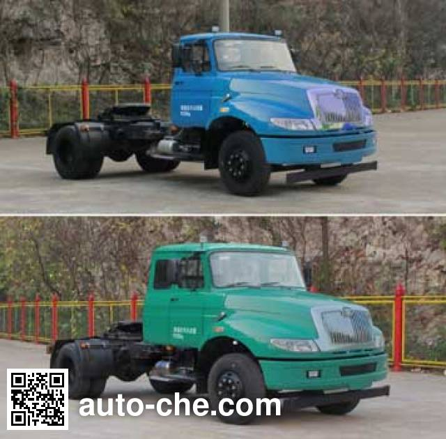 FAW Jiefang CA4140N2E5A90 natural gas tractor unit