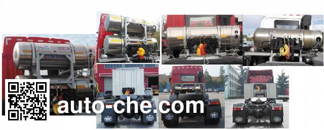 FAW Jiefang CA4180P1K15NE5A80 natural gas cabover tractor unit