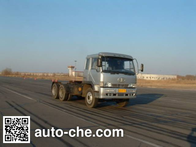FAW Jiefang CA4250P4K2T6A70 cabover lifting axle tractor unit