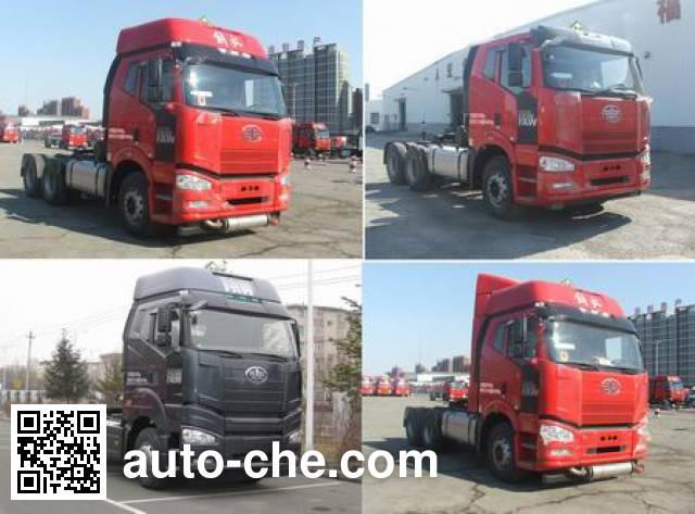FAW Jiefang CA4250P66K24T1E5Z dangerous goods transport tractor unit
