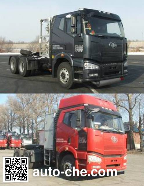 FAW Jiefang CA4250P66T1A3E22M4X LNG container tractor unit