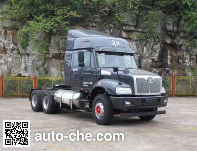 FAW Jiefang CA4253N2E5R5T1A92 natural gas tractor unit