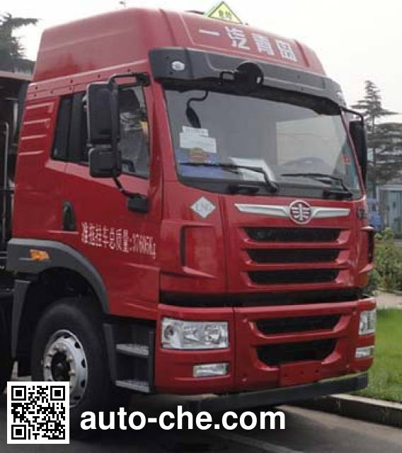 FAW Jiefang CA4185P1K2E5A80 dangerous goods transport tractor unit
