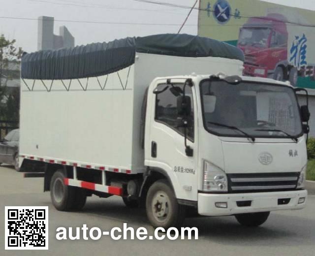 FAW Jiefang CA5083CPYP40K2L2EA84-2 soft top box van truck