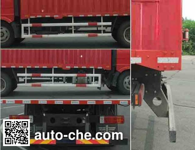 FAW Jiefang CA5160XXYP61K1L4A2E diesel cabover box van truck with canopy top