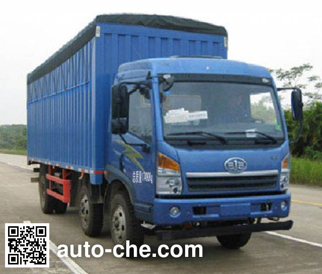 FAW Jiefang CA5170CPYPK2L6T3E4A80-2 soft top box van truck
