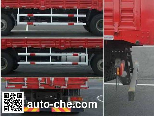 FAW Jiefang CA5200XXYP63K1L6T3A2HE diesel cabover box van truck with canopy top