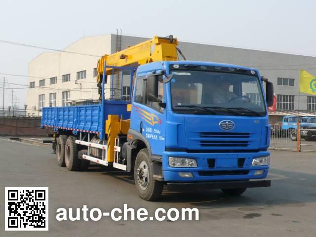 FAW Jiefang CA5250JSQA70E4 truck mounted loader crane