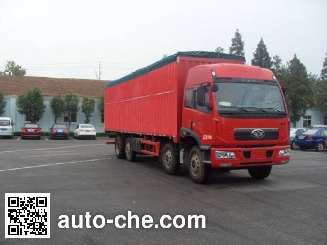 FAW Jiefang CA5312XXYP2K8L7T10EA80-2 soft top box van truck