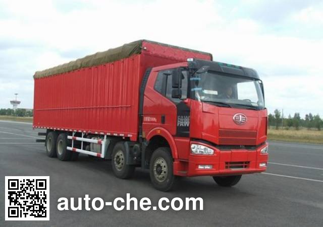 FAW Jiefang CA5310XXYP66K2L7T4A2E diesel cabover box van truck with canopy top