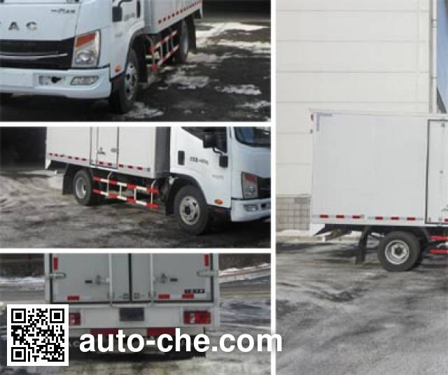 FAW FAC Linghe CAL5041XXYCRE4A box van truck