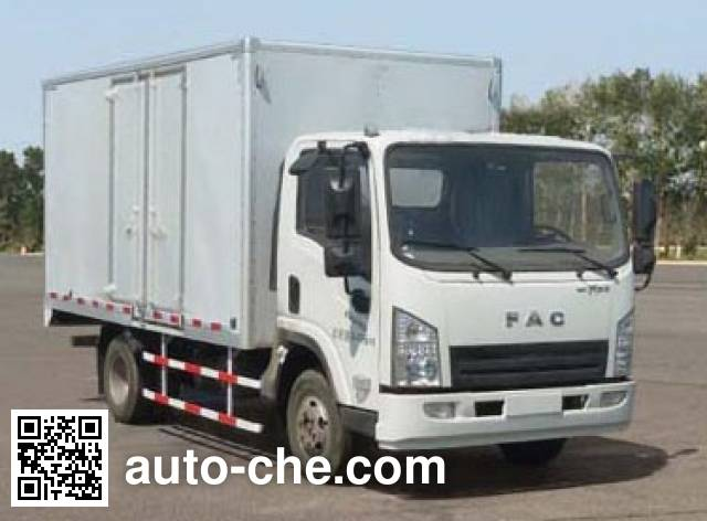 FAW FAC Linghe CAL5041XXYDCRE5 box van truck