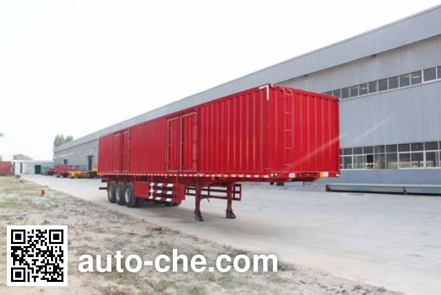 Hengtong Liangshan CBZ9400XXY box body van trailer
