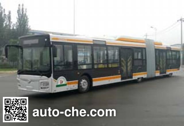 蜀都牌CDK6182CEG5R铰接城市客车