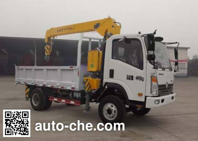 Sinotruk CDW Wangpai CDW5040JSQA3Q4 truck mounted loader crane