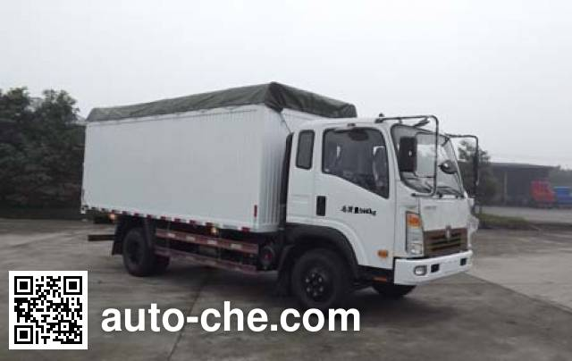 Sinotruk CDW Wangpai CDW5160CPYHA1R5N soft top box van truck