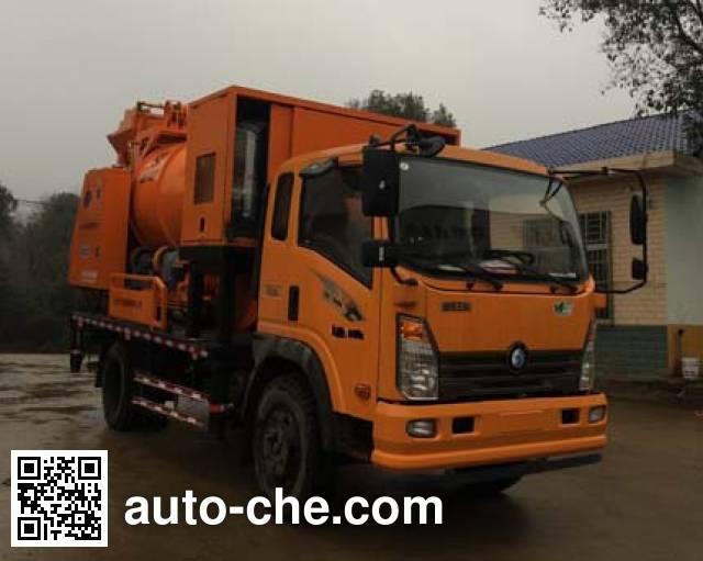 Sinotruk CDW Wangpai CDW5110THBHA2R5 concrete pump truck