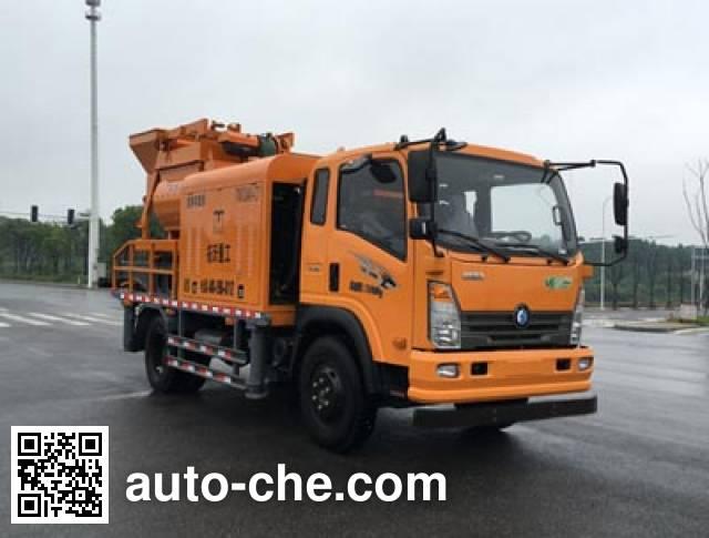 王牌牌CDW5140THBA2R5车载式混凝土泵车