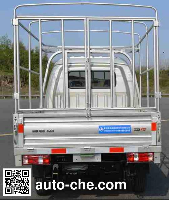 长帆汽车牌CFX5021CCYEVA1W纯电动仓栅式运输车