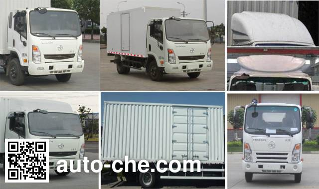 Dayun CGC2041XHDD33D cross-country box van truck