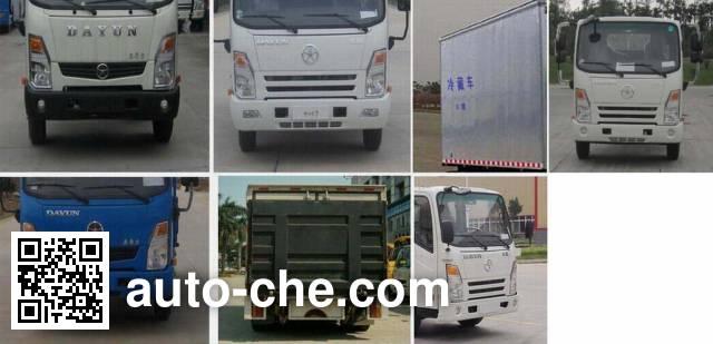大运牌CGC5040XLCHDD33E冷藏车
