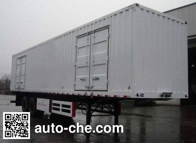 大运牌CGC9300XXY-A厢式运输半挂车