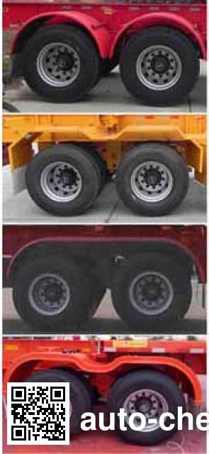 Dayun CGC9350TWY243 dangerous goods tank container skeletal trailer
