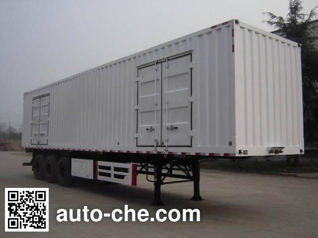 大运牌CGC9400XXY-B厢式运输半挂车