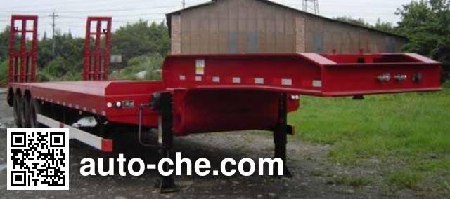 大运牌CGC9401TDP低平板半挂车