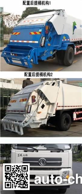 Sanli CGJ5126ZYSAE5 garbage compactor truck