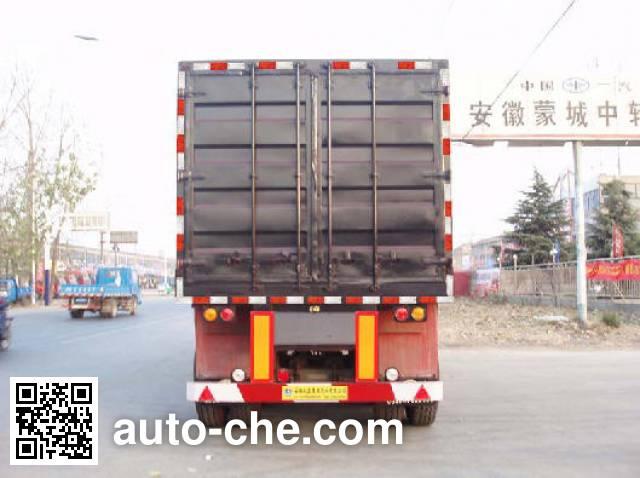 兆鑫牌CHQ9350XXY厢式运输半挂车