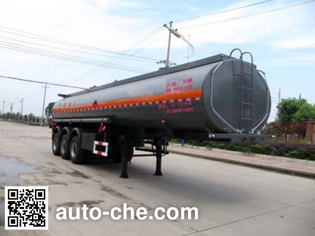 楚飞牌CLQ9401GRY易燃液体罐式运输半挂车