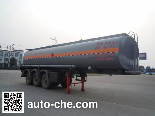 楚飞牌CLQ9404GRY易燃液体罐式运输半挂车